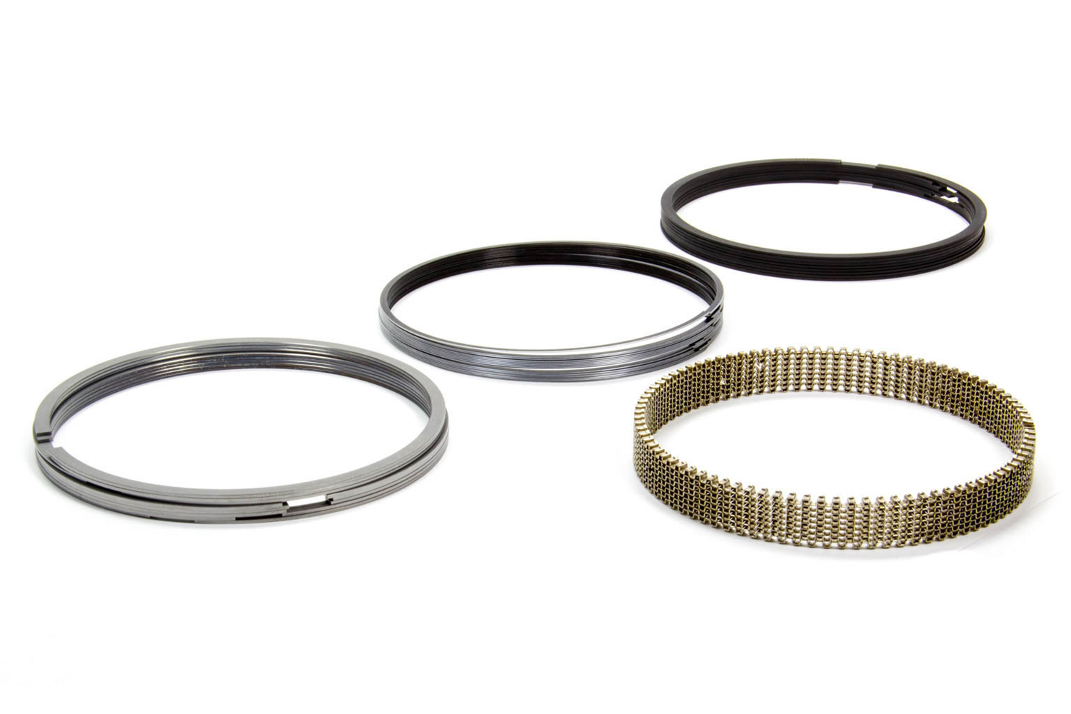 Total Seal CS9150-15 Piston Rings, 4.615 in Bore, 1/16 x 1/16 x 3/16 in Thick, Standard Tension, Steel, 8-Cylinder, Kit