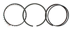 Total Seal M0690-5 Piston Rings, Maxseal, Gapless Top, 4.125 in Bore, File Fit, 1/16 x 1/16 x 3/16 in Thick, Standard Tension, Ductile Iron, 8 Cylinder, Kit