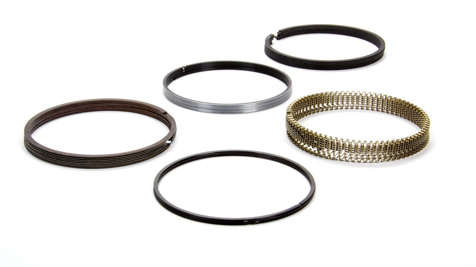Total Seal MS9010-45 Piston Rings, Maxseal, Gapless, 4.165 in Bore, File Fit, 0.043 in x 0.043 in x 3.0 mm Thick, Low Tension, Iron, 8 Cylinder, Kit