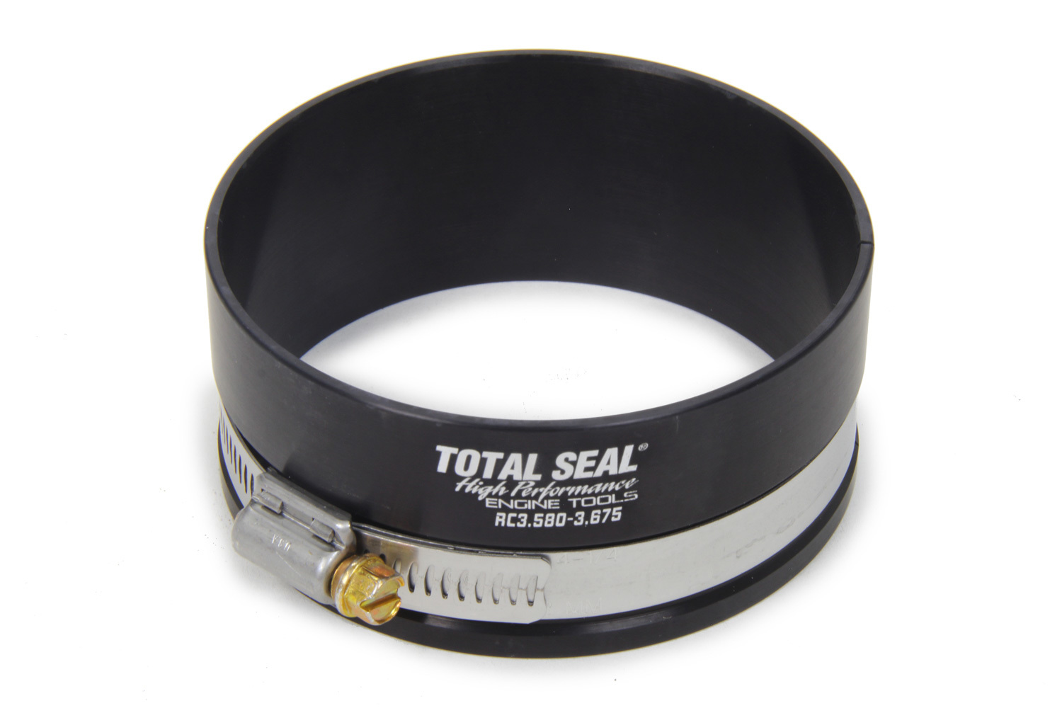 Total Seal RC3.580-3.675 Piston Ring Compressor, 3.580-3.675 in Bore, Adjustable, Aluminum, Black Anodized, Each