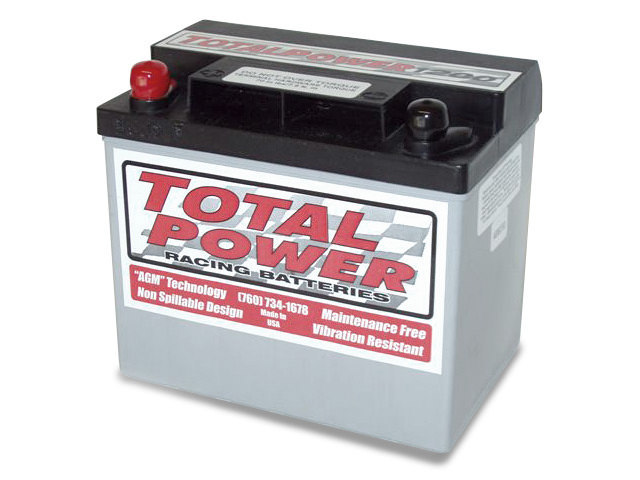 Total Power Battery TP1200 Battery, Racing, AGM, 12V, 1200 Cranking Amp, Threaded Terminals, 7.75 in L x 6.875 in H x 5.25 in W, Each