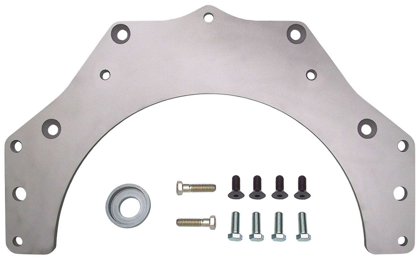 Trans Dapt 0061 Transmission Adapter, Steel, Natural, Chevy 700R4 / TH350 / TH400 to BOP V8, Kit