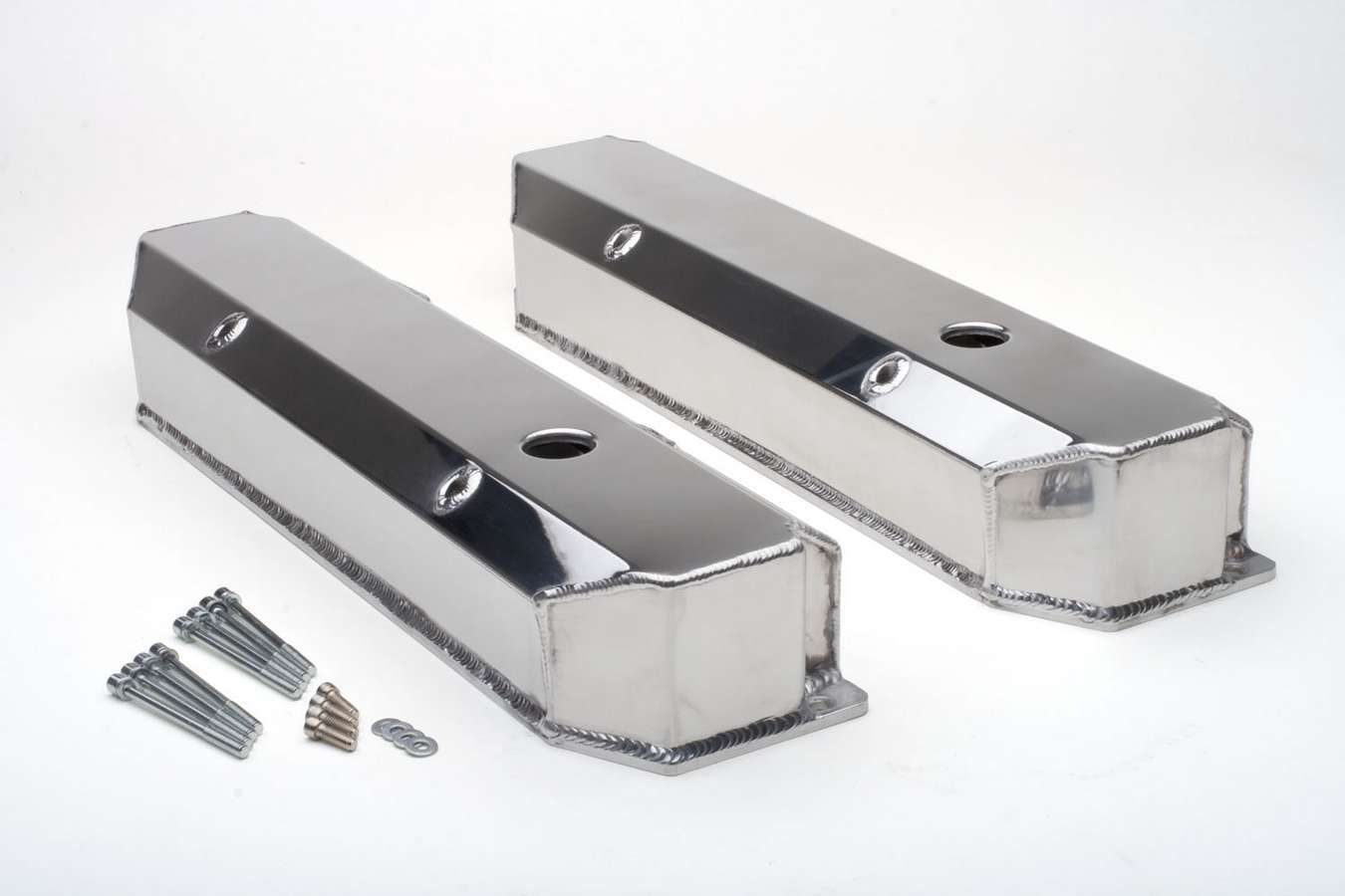 BBM Fabricated Alum Valve Covers Polished