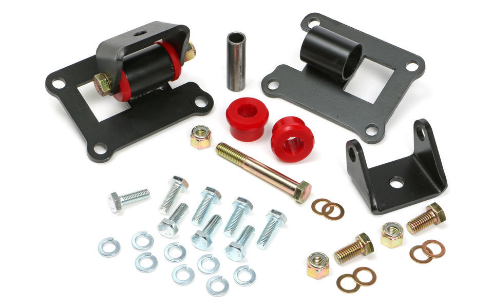 Trans Dapt 4204 Motor Mount, LS Swap, Bolt-On, Polyurethane / Steel, Black / Red, GM LS-Series, GM Compact SUV / Truck 1967-72, Kit