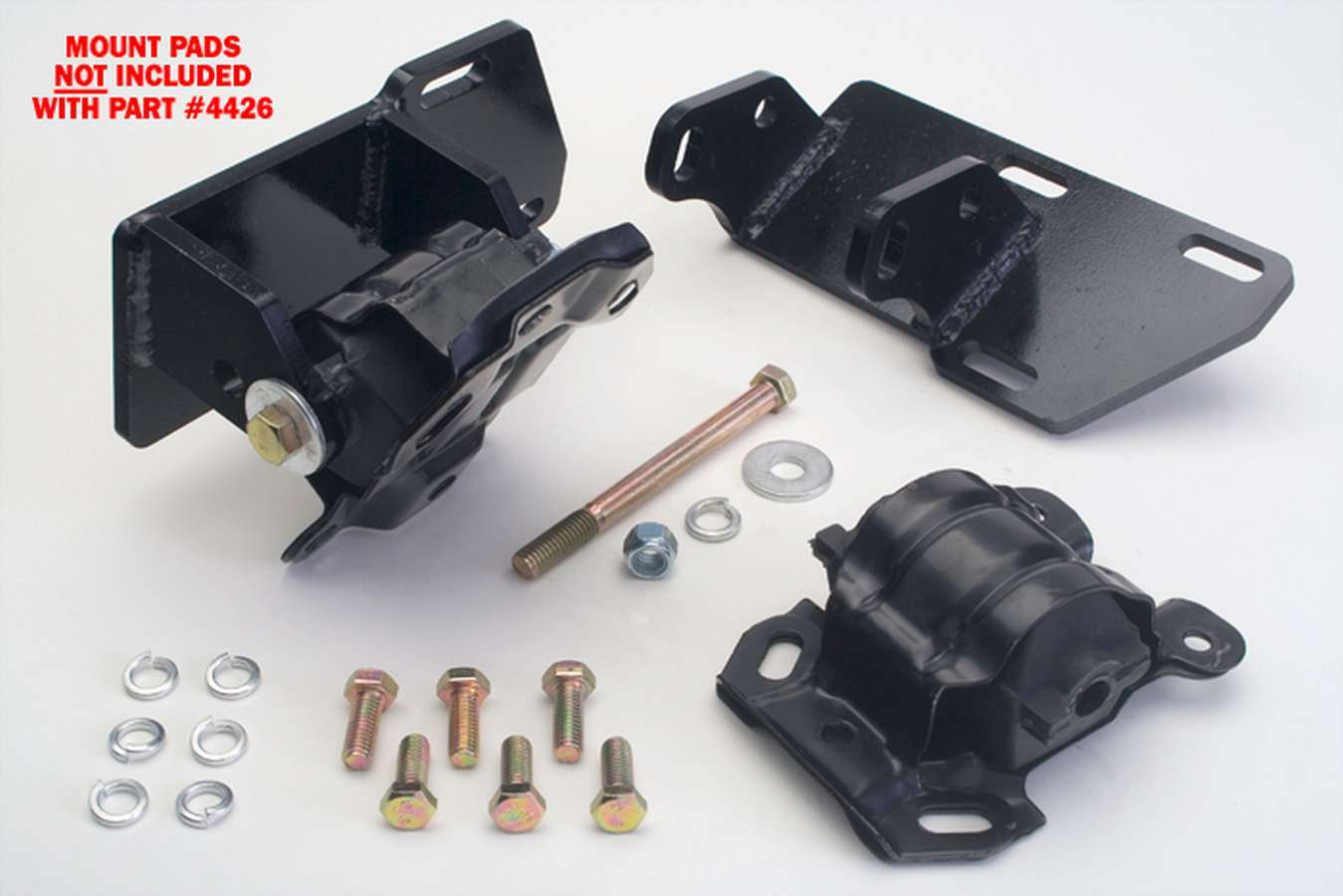 Trans Dapt 4426 Motor Mount, Bolt-On, Steel, 4WD, GM Compact Truck 2.8 L to Chevy V8, Pair