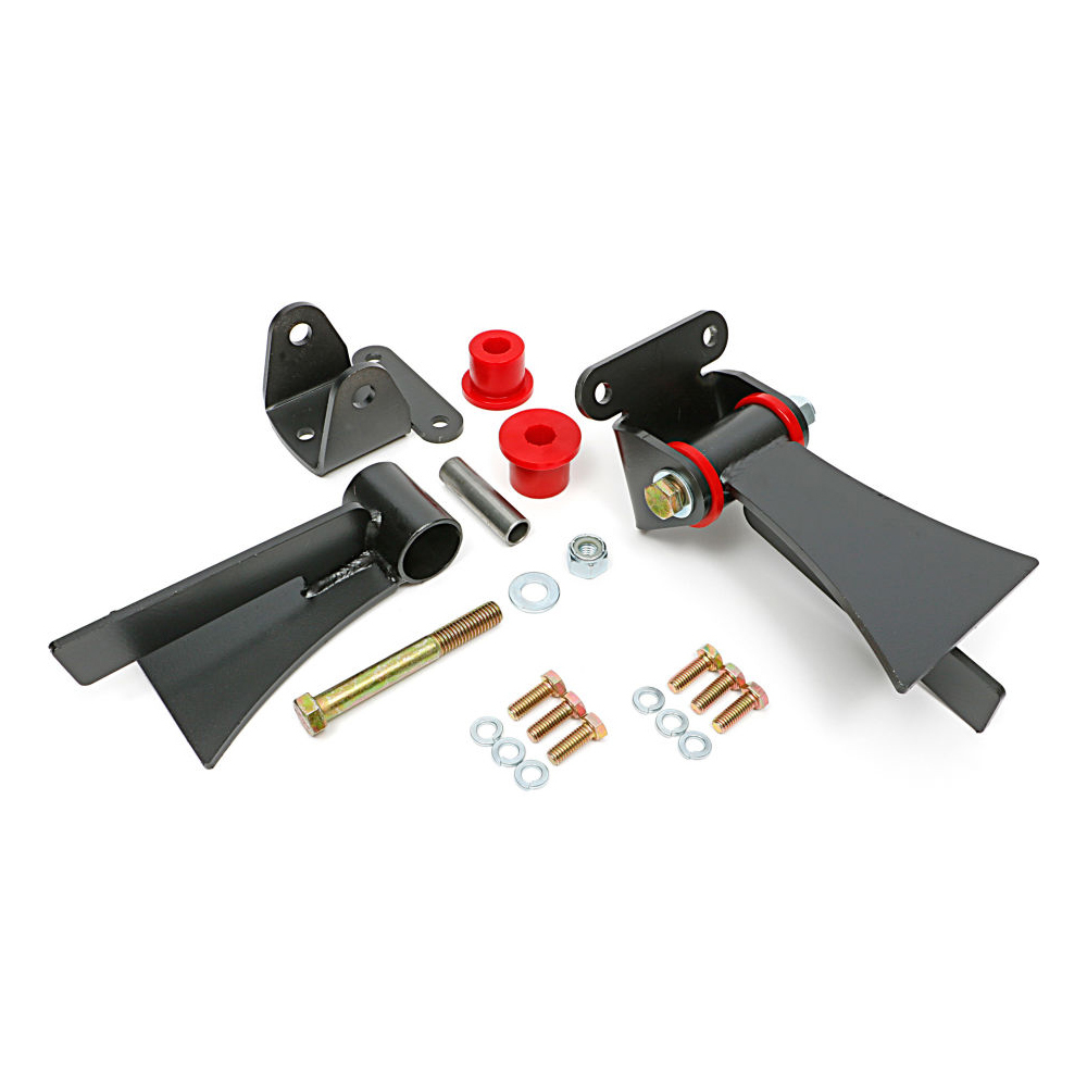 Trans Dapt 4500 Motor Mount, Street Rod, Bushing Type, Weld-On, Polyurethane Bushings, Steel, Chevy V8, Kit