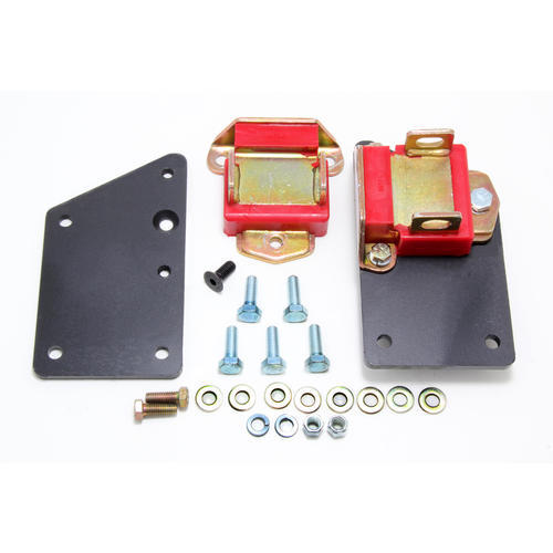 Trans Dapt 4582 Motor Mount, Bolt-On, Polyurethane Pads, Steel, LS-Series Engines to GM 3-Bolt, Kit