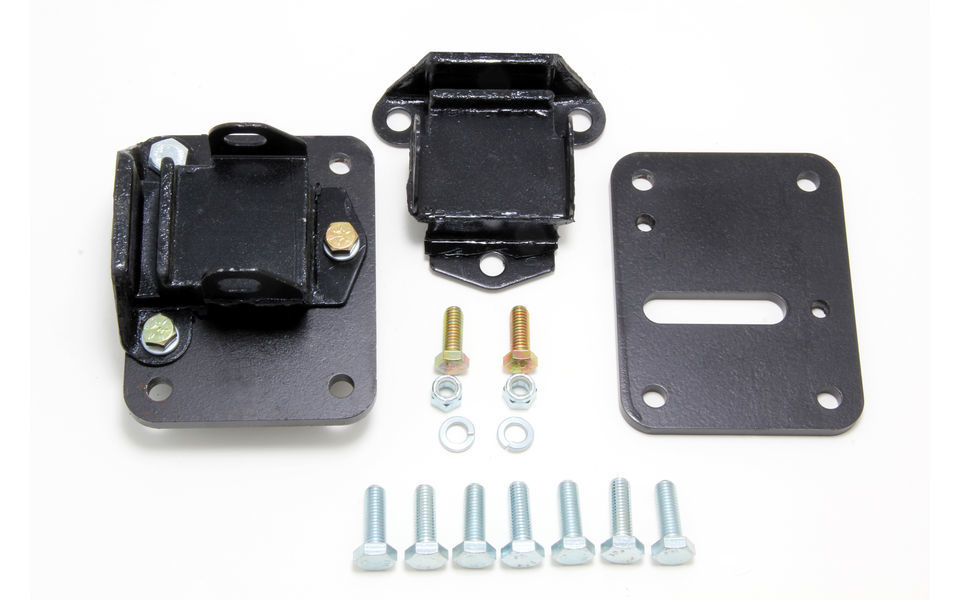 Trans Dapt 4597 Motor Mount, Bolt-On, 1-3/4 in Forward Mount, GM LS-Series, Kit