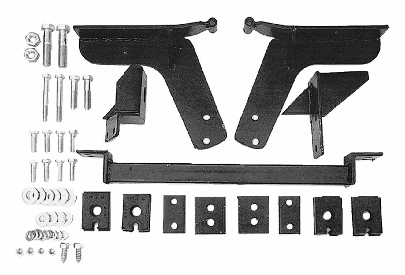 Trans Dapt 4686 Motor Mount, Crossmember Included, Steel, Chevy Vega / Pontiac Astra to Chevy V8 and TH350, Kit