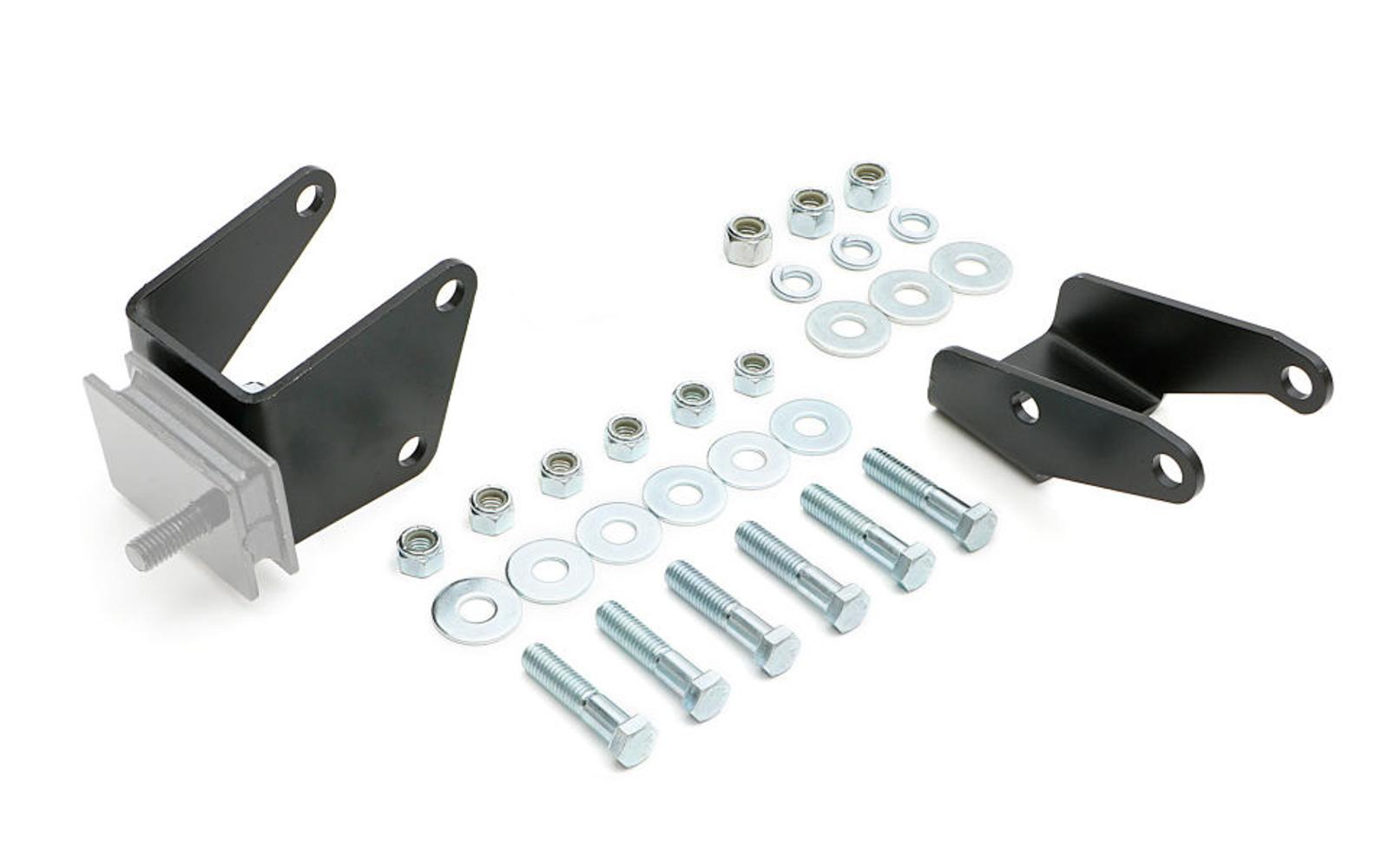 Trans Dapt 4798 Motor Mount Adapter, Bolt-On, Steel, Black Paint, Mopar B / RB-Series, Mopar A-Body 1967-72, Kit