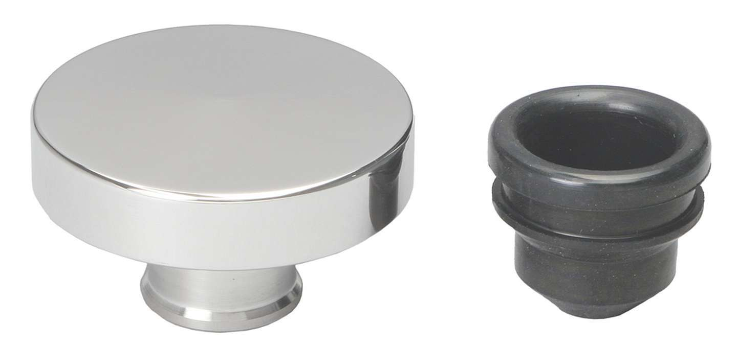 Trans Dapt 6000 Oil Fill Cap, Push-On, Round, 1-1/4 in Valve Cover Hole, Aluminum, Polished, Each