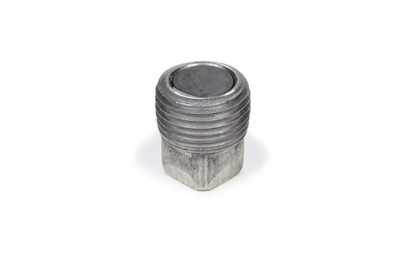 Trans Dapt 9064 Drain Plug, 1/2 in NPT, Square Head, Magnetic, Steel, Natural, Each