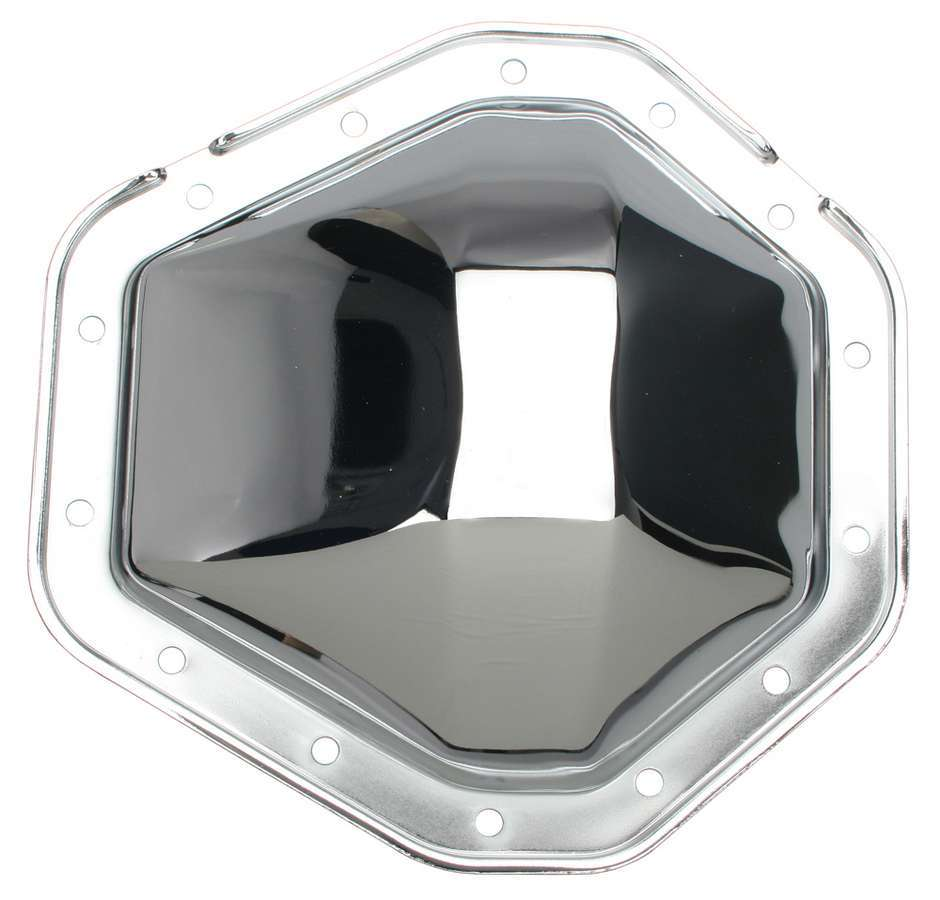 Trans Dapt 9071 Differential Cover, Steel, Chrome, 10.5 in, GM 14-Bolt, Each