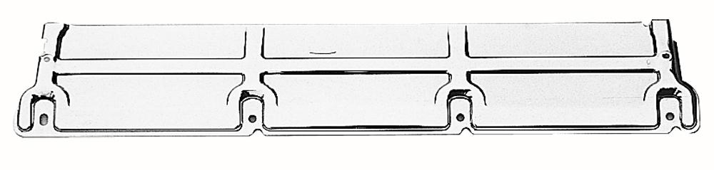 Trans Dapt 9428 Radiator Support Panel, 31-3/8 in Long, 5-3/4 in Wide, Heavy Duty Radiator, Steel, Chrome, GM A-Body 1968-77, Each
