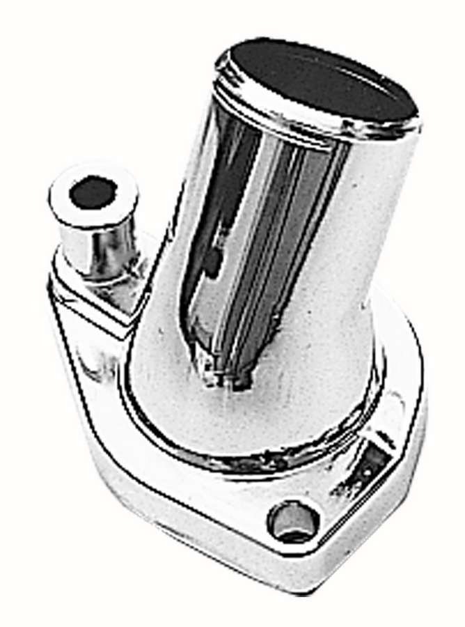 Trans Dapt 9440 Water Neck, 45 Degree, 1-1/2 in ID Hose, O-Ring, Hardware Included, Steel, Chrome, Small Block Ford, Each