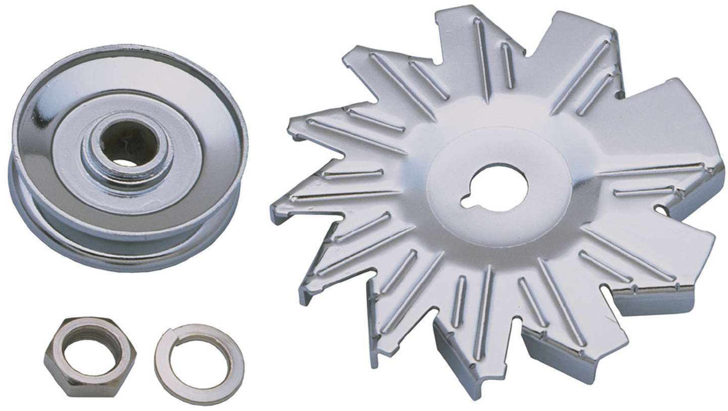 Double V-Belt Pulley Hardware Included Alternator Fan and Pulley C Steel