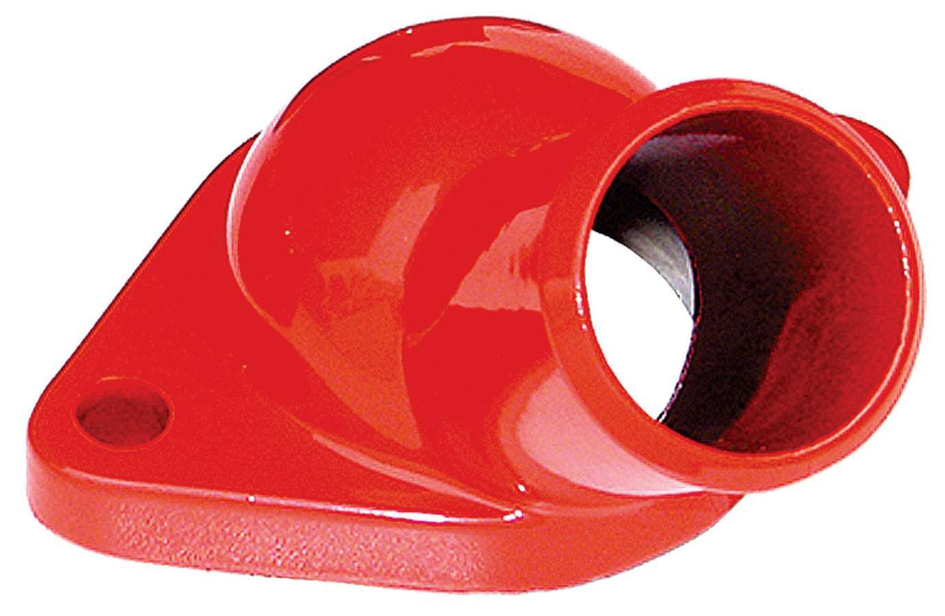 Trans Dapt 9928 Water Neck, 45 Degree, 1-1/2 in ID Hose, O-Ring, Hardware Included, Steel, Orange Powder Coat, Chevy V8, Each