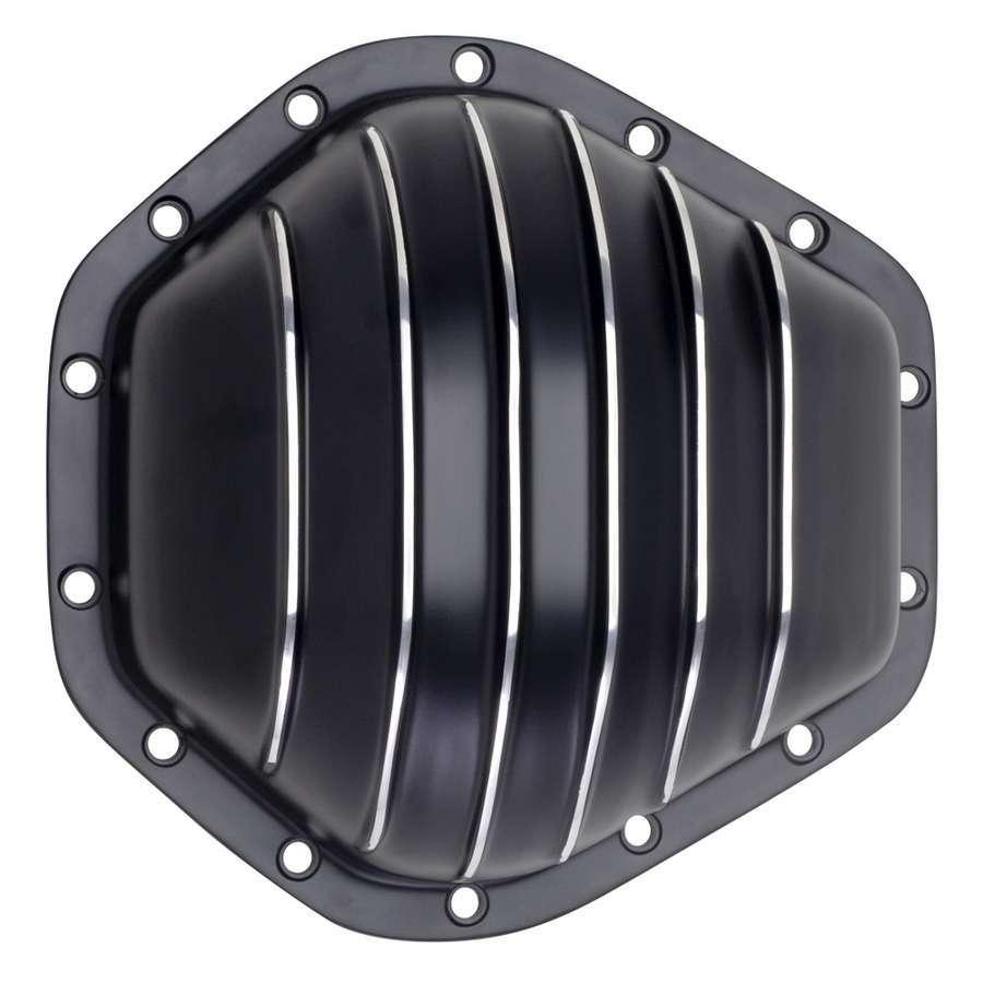 Trans Dapt 9939 Differential Cover, Aluminum, Black Powder Coat / Polished Fins, GM 14 Bolt, Each