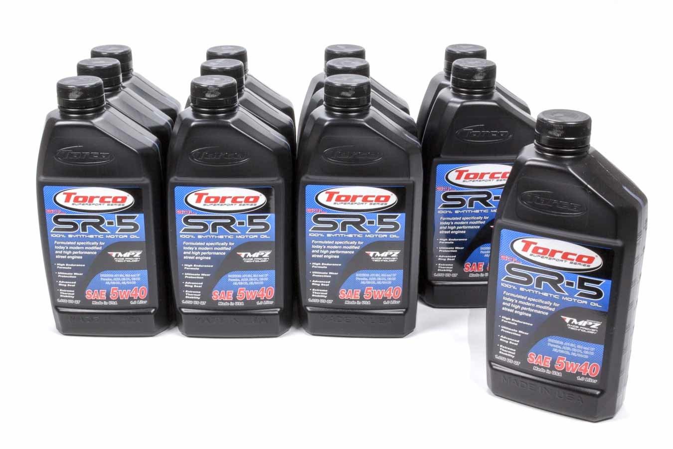 TORCO A150544C SR-5 GDL Synthetic Motor Oil 5w40 Case 12x1-Liter
