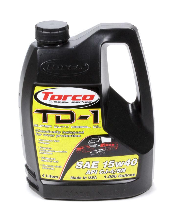 TORCO A181540SE TD-1 Super Diesel 15w40 4-Liter Bottle