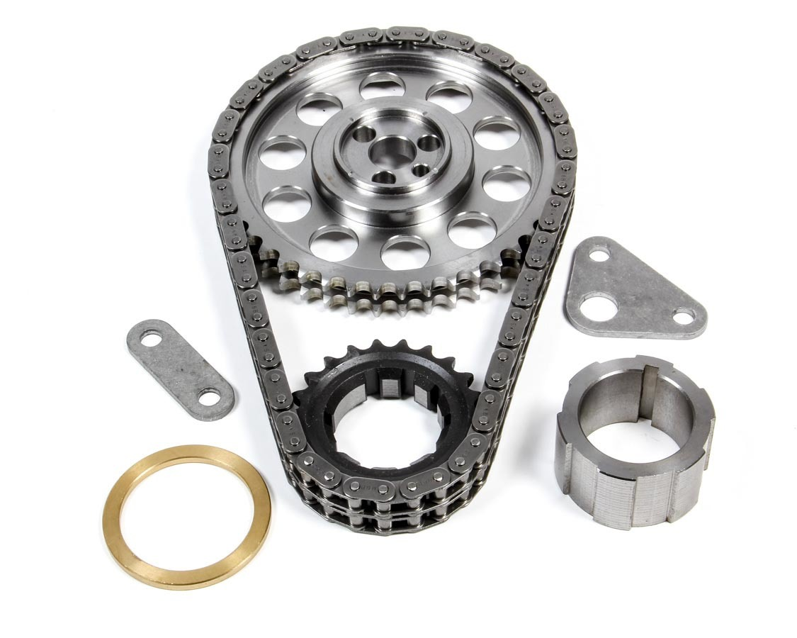 Trick Flow TFS-30678533 Timing Chain Set, Double Roller, Keyway Adjustable, Hardware included, Steel, GM LS-Series, Kit