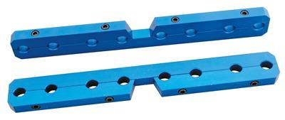 Trick Flow TFS-51700701 Rocker Arm Stud Girdle, 7/16-20 in Adjusting Nuts, Aluminum, Blue Anodized, Trick Flow Twisted Wedge High Port Head, Small Block Ford, Pair