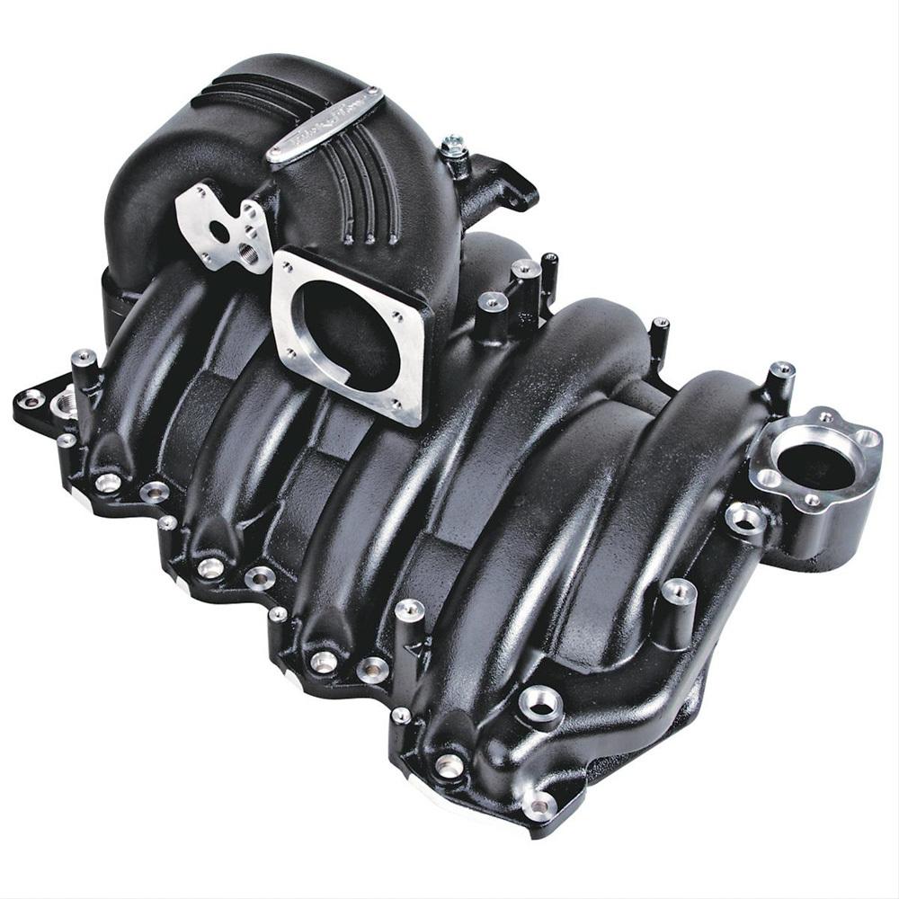 Trick Flow TFS-51811000 Intake Manifold, StreetBurner, Throttle Body Flange, Multi Port, Aluminum, Black Powder Coat, 4.6L, Ford Modular, Each