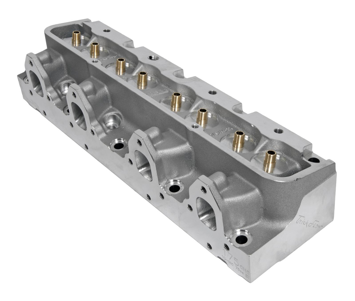 Trick Flow TFS-5641B701-C00 Cylinder Head, Power Port, Bare, 2.190 / 1.625 in Valves, 175 cc Intake, 70 cc Chamber, Aluminum, Ford FE Series, Each