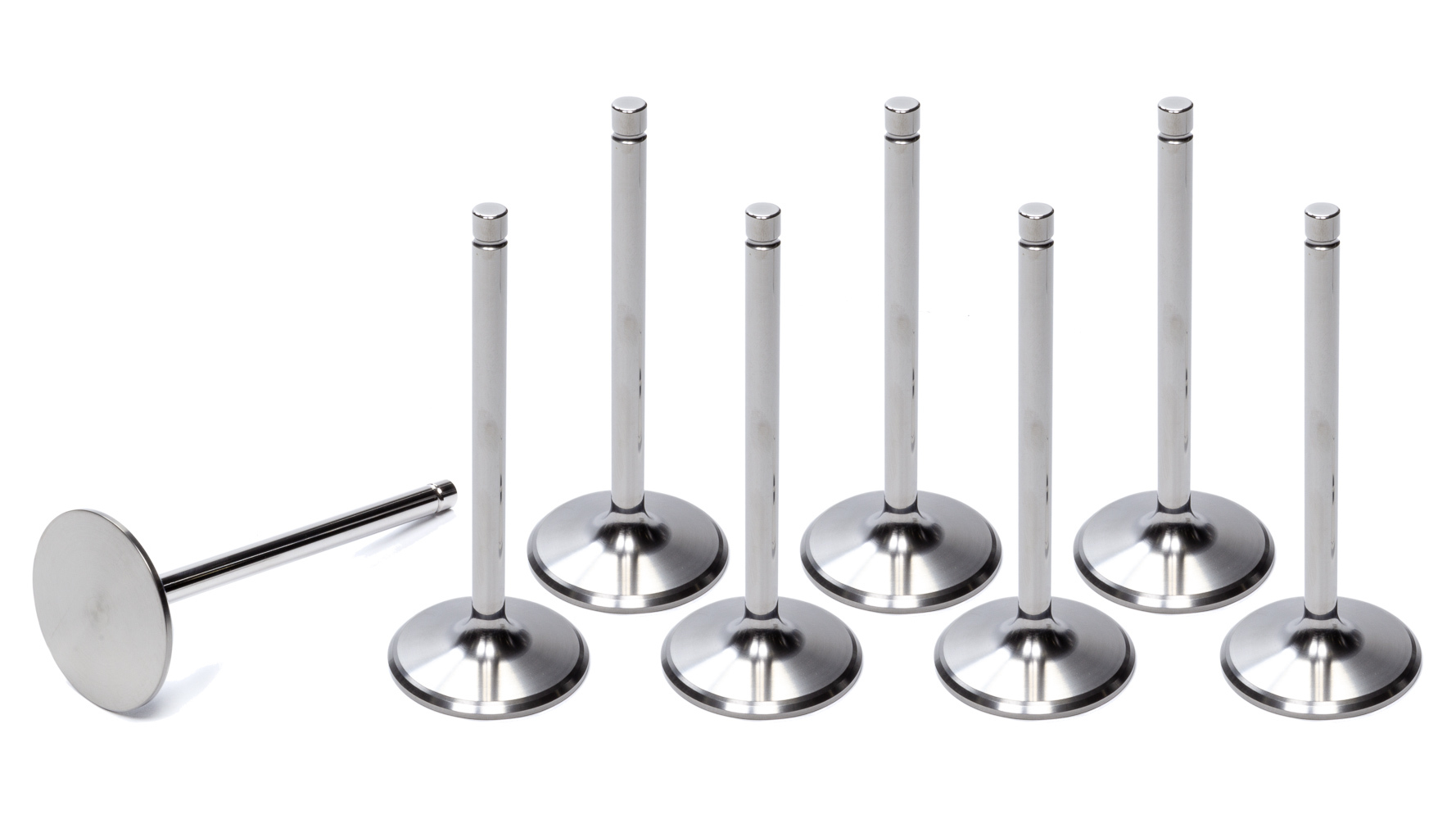 Trick Titanium TTICN2080-2R-8 Intake Valve, 2.080 in Head, 11/32 in Valve Stem, 5.140 in Long, Titanium, Small Block Chevy, Set of 8