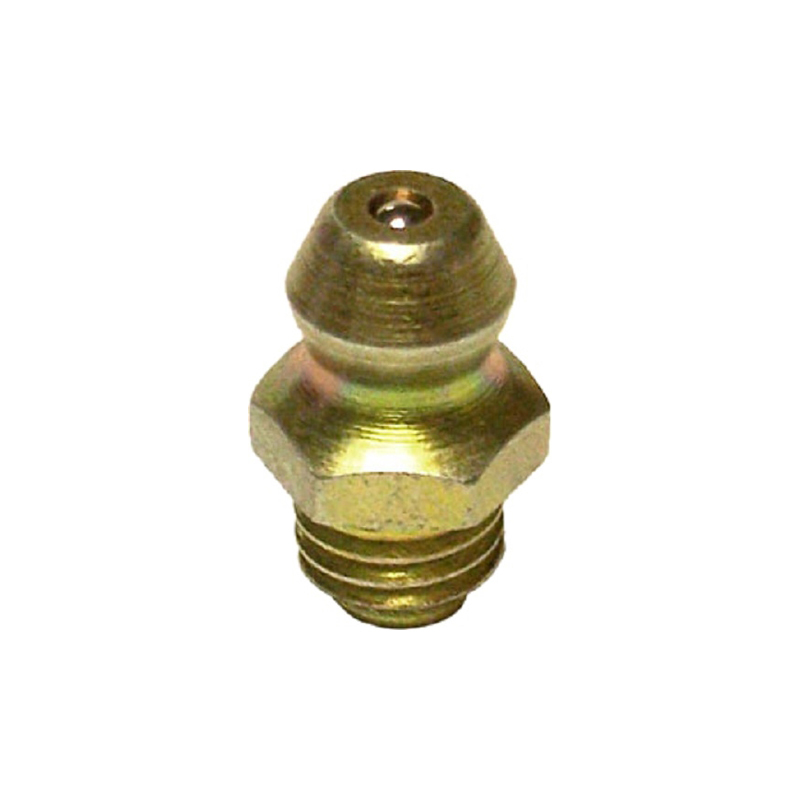 Triple X Race Components CH-1023 Grease Fitting, Zerk, Straight, 1/4-28 in Thread, Steel, Cadmium, Each