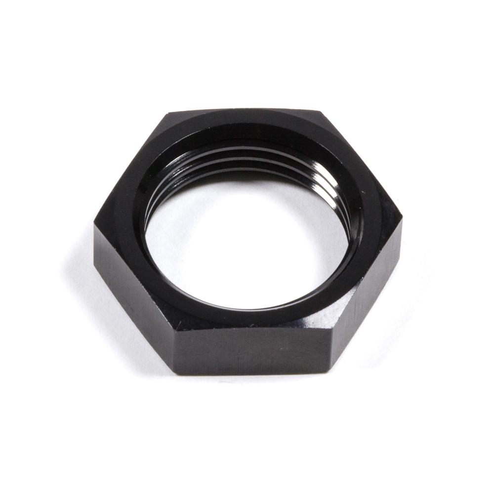 Triple X Race Components HF-72008-BLK Bulkhead Fitting Nut, 8 AN, Aluminum, Black Anodized, Each
