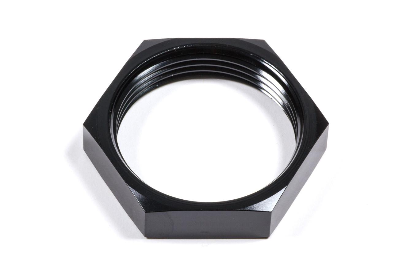 Triple X Race Components HF-72020-BLK Bulkhead Fitting Nut, 20 AN, Aluminum, Black Anodize, Each