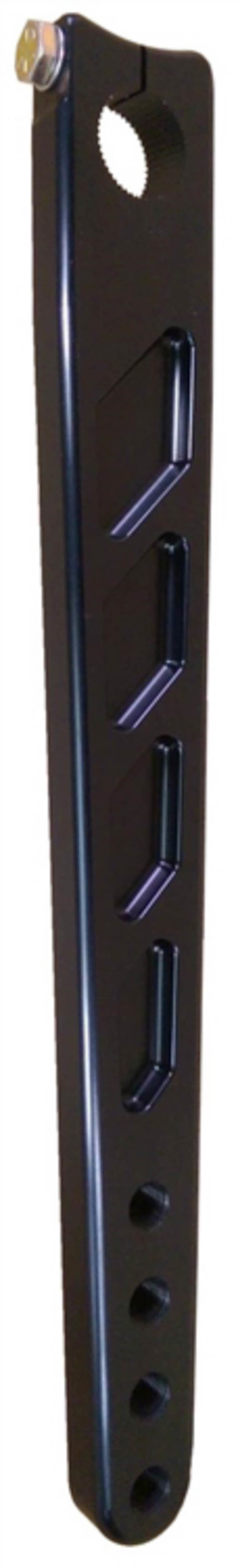 Tripple X Race Components MID-ST-0008BLK Pitman Arm, 11-1/4 to 14-1/4 in Long, 10 Degree Angle Broach, Aluminum -Black Anodize, Triple X Sprint Car, Each
