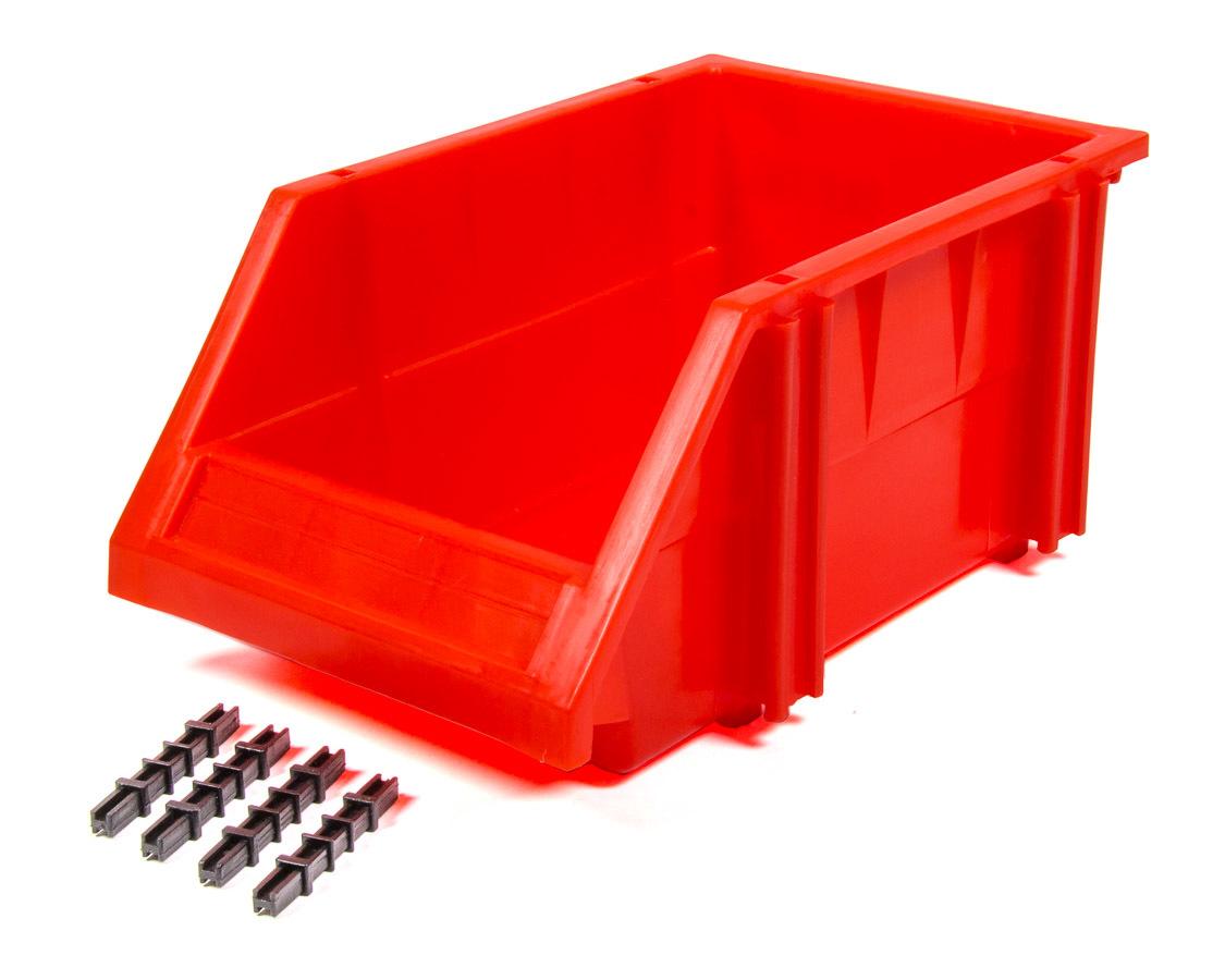Triple X Race Components PA-PBIN-8077 Storage Bin, 9.5 x 6.25 x 4.5 in, Plastic, Red, Each