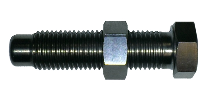 Triple X Race Components SC-SU-8841 Torsion Stop Weight Adjuster Bolt, 7/16-20 in Thread, 1.750 in Long, Hex Head, Hex Nut, Titanium, Natural, Torsion Stops, Sprint Car, Each