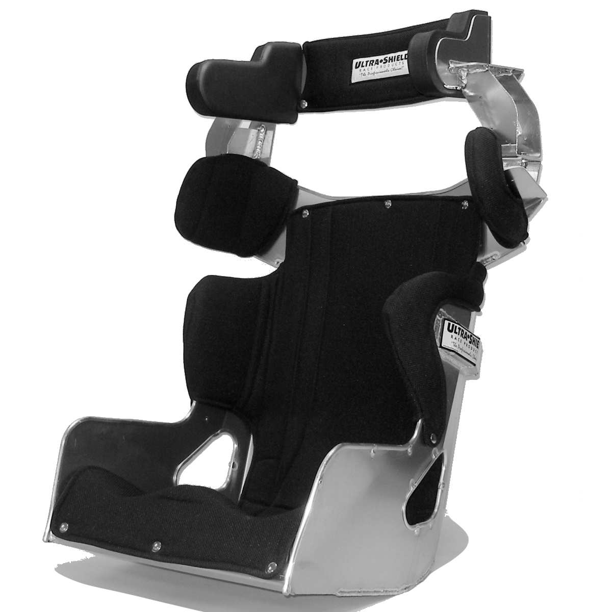 Ultra Shield EF26100 Seat, 2019 Economy Full Containment Halo, 16 in Wide, 10 Degree Layback, Snap Cover Included, Aluminum, Natural, Each