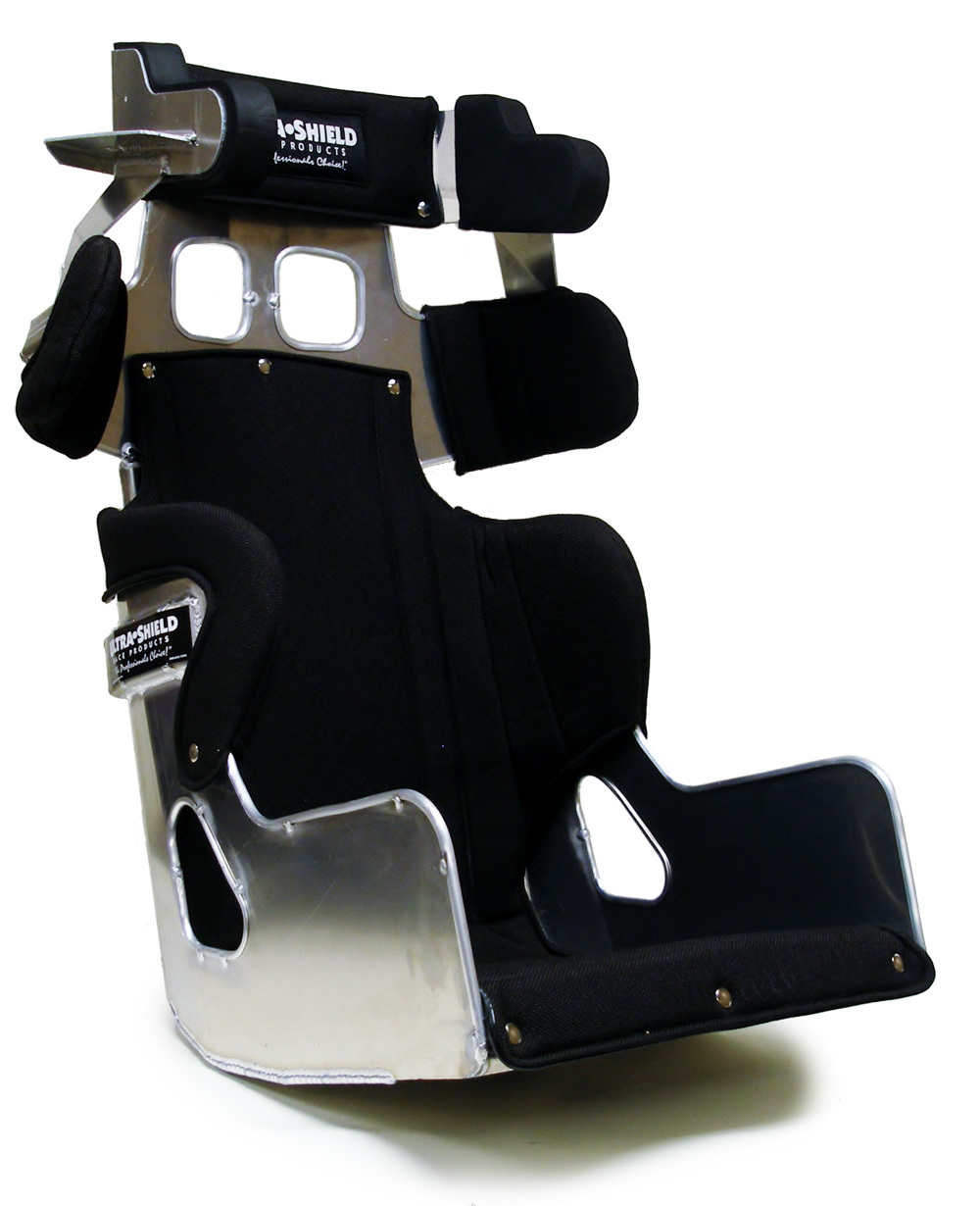 Ultra Shield FCLM620 Seat, FC1 Late Model, 16 in Wide, 20 Degree Layback, Black Cover Included, Aluminum, Natural, Each