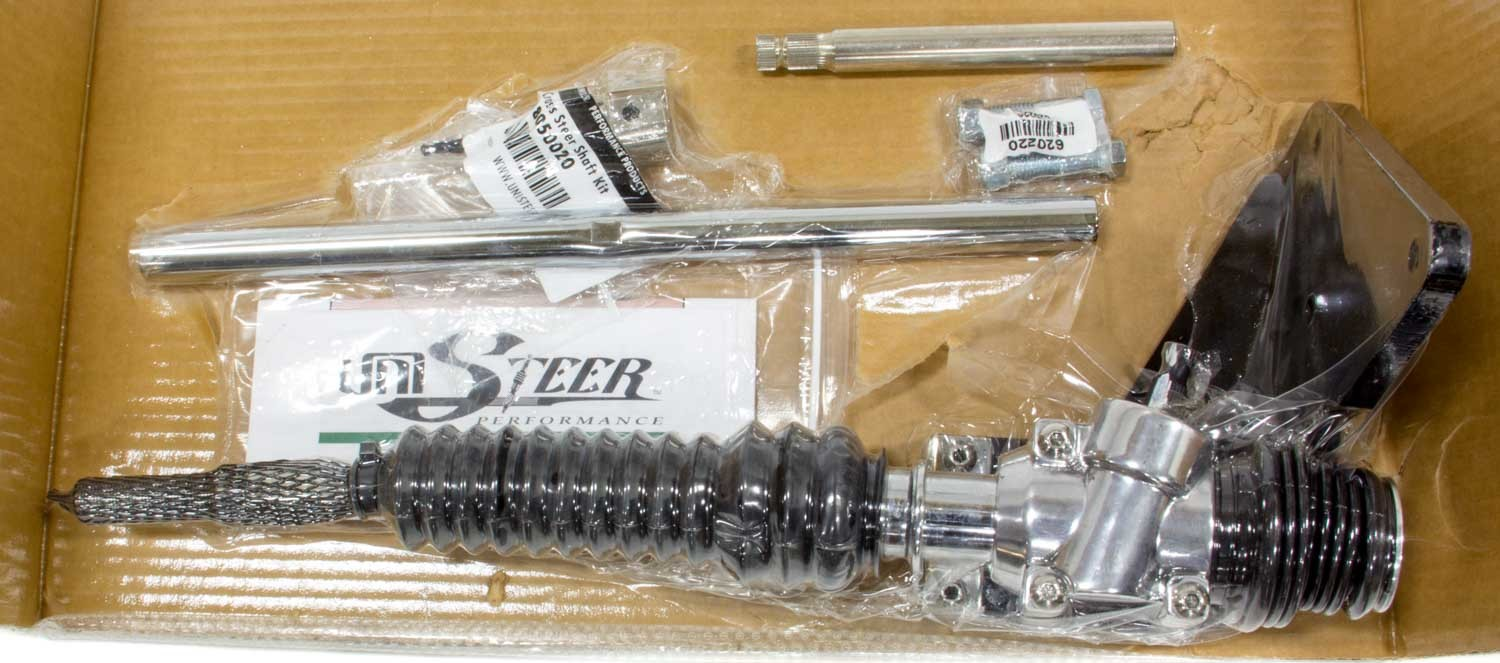 Unisteer Performance Products 8000470-01 Rack and Pinion, Manual, 6.00 in Travel, 33.0 in Long, Aluminum, Polished, Ford Model A 1928-31, Kit