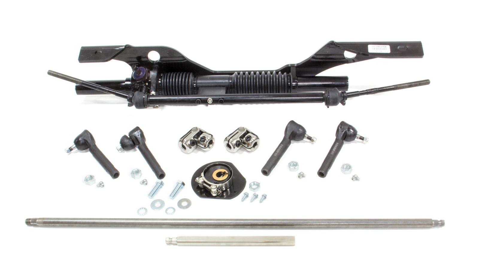Unisteer Performance Products 8001110-01 Rack and Pinion, Manual, Aluminum, Black Powder Coat, Ford Mustang 1965-66, Kit