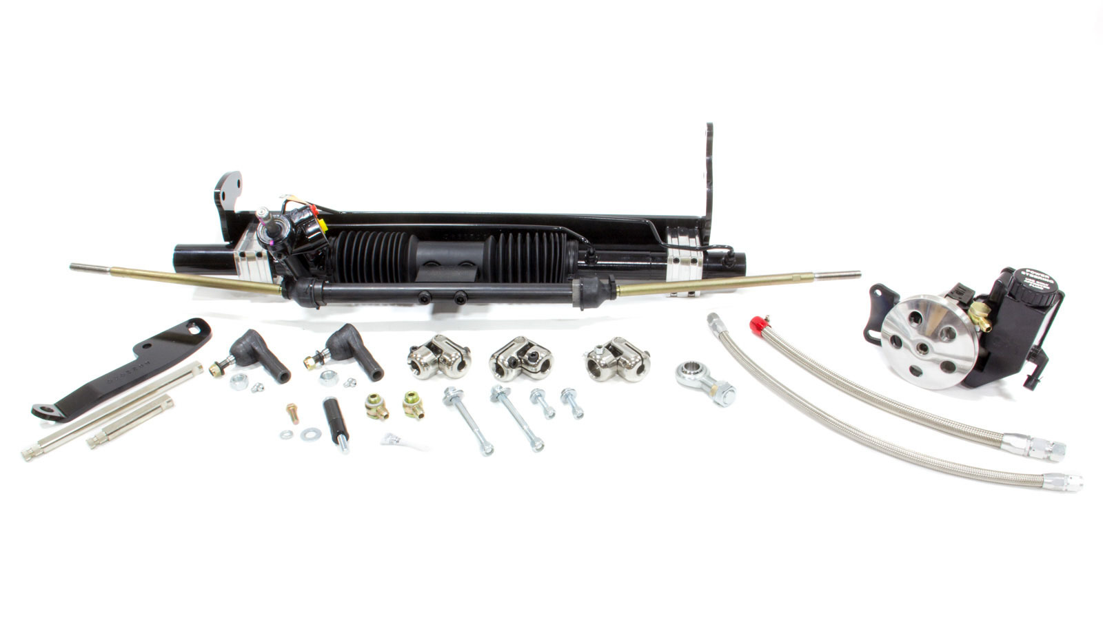 Unisteer Performance Products 8010740-01 Rack and Pinion, Power, Aluminum, Black Powder Coat, GM A-Body 1968-72, Kit