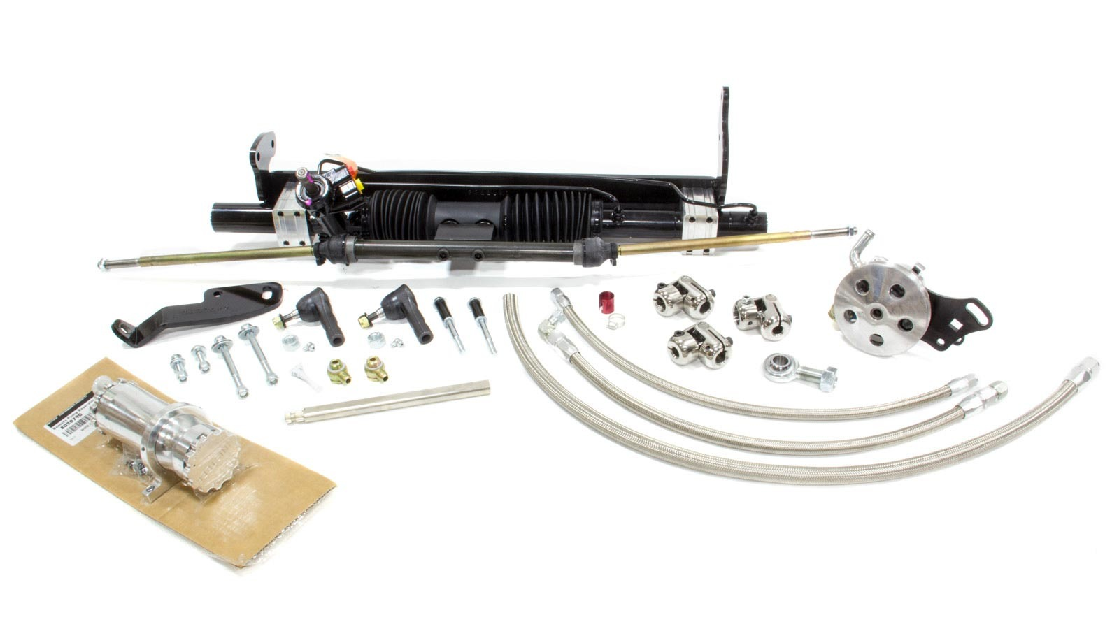 Unisteer Performance Products 8010780-01 Rack and Pinion, Power, Aluminum, Black Powder Coat, GM A-Body 1964-67, Kit