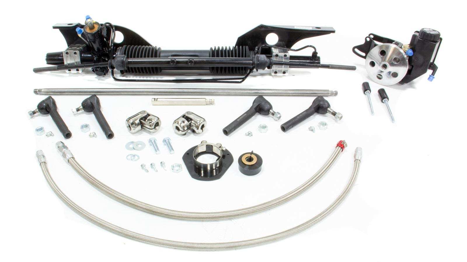 Unisteer Performance Products 8010820-01 Rack and Pinion, Power, Aluminum, Black Powder Coat, Early, Ford Mustang 1967, Kit