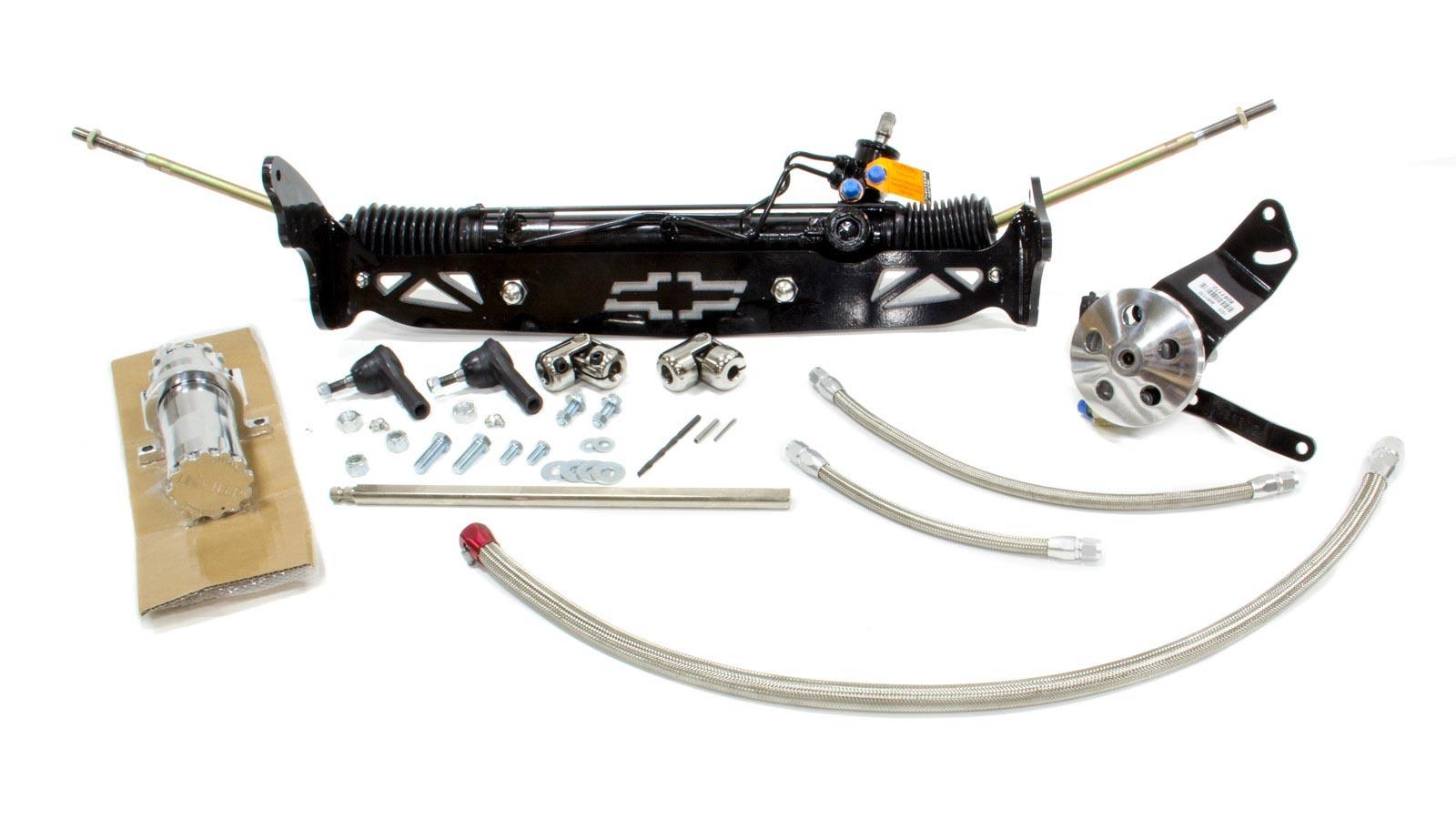 Unisteer Performance Products 8011740-01 Rack and Pinion, Power, Aluminum, Black Powder Coat, Drum Brake Spindles, 2WD, GM Fullsize Truck 1960-66, Kit
