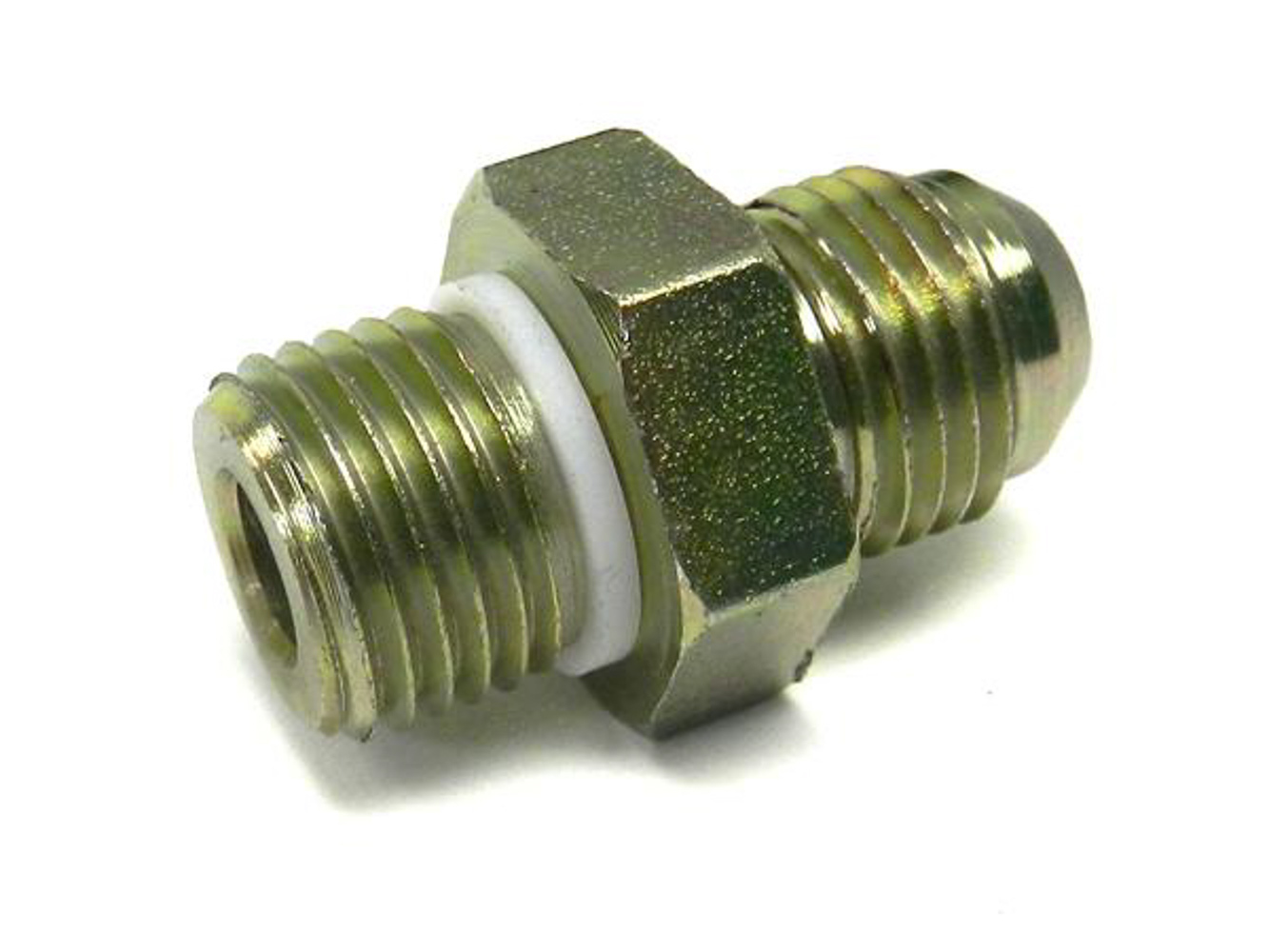 Unisteer 8021660 Fitting, Adapter, Straight, 6 AN Male to 9/16-18 in Male Thread, Aluminum, Natural, Power Steering Systems, Each