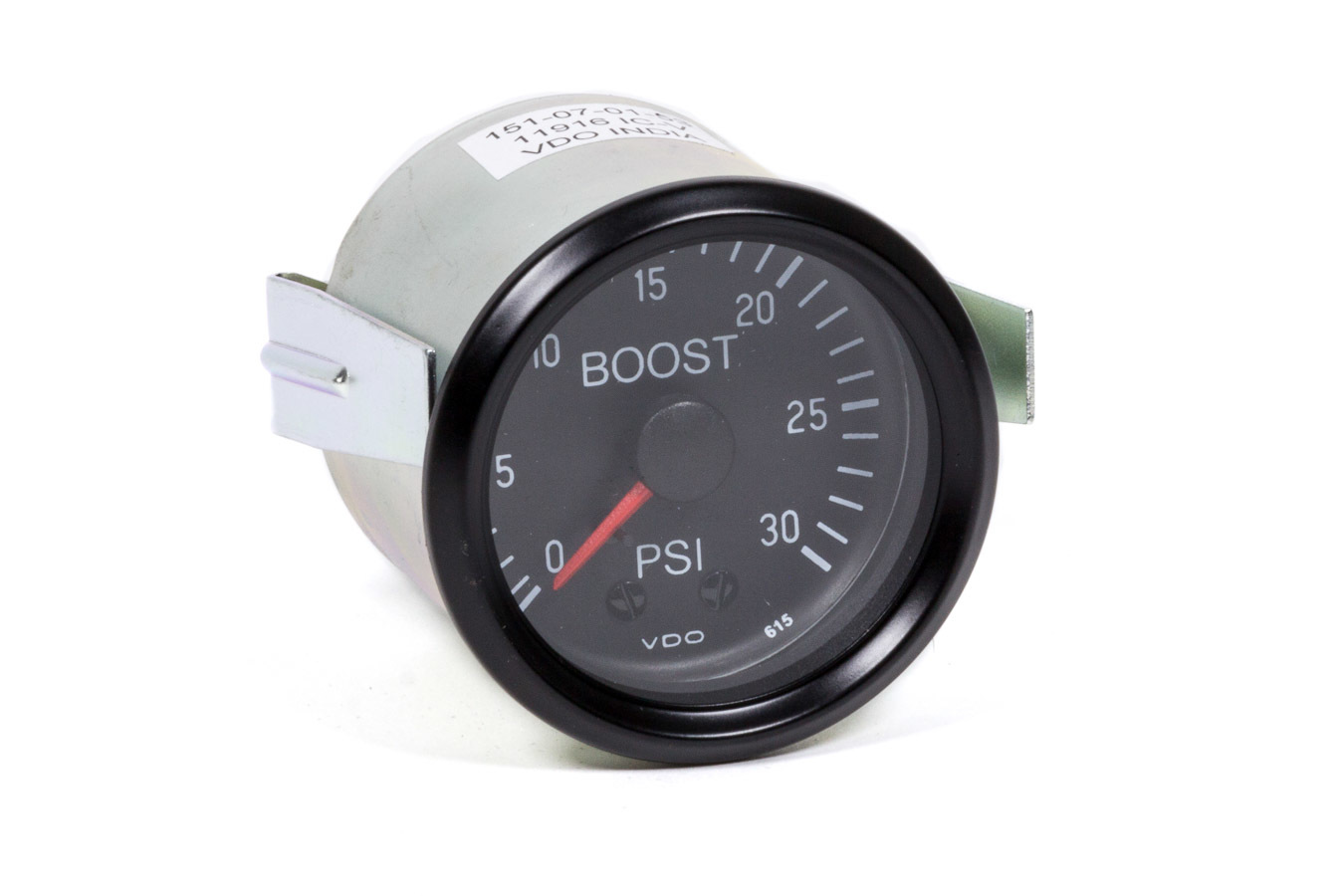 VDO 150-052 Boost Gauge, Cockpit, 0-30 psi, Mechanical, Analog, 2-1/16 in Diameter, Black Face, Each