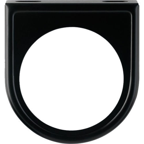 VDO 240-027 Gauge Mounting Panel, One 2-1/16 in Hole, Steel, Black Paint, Universal, Each