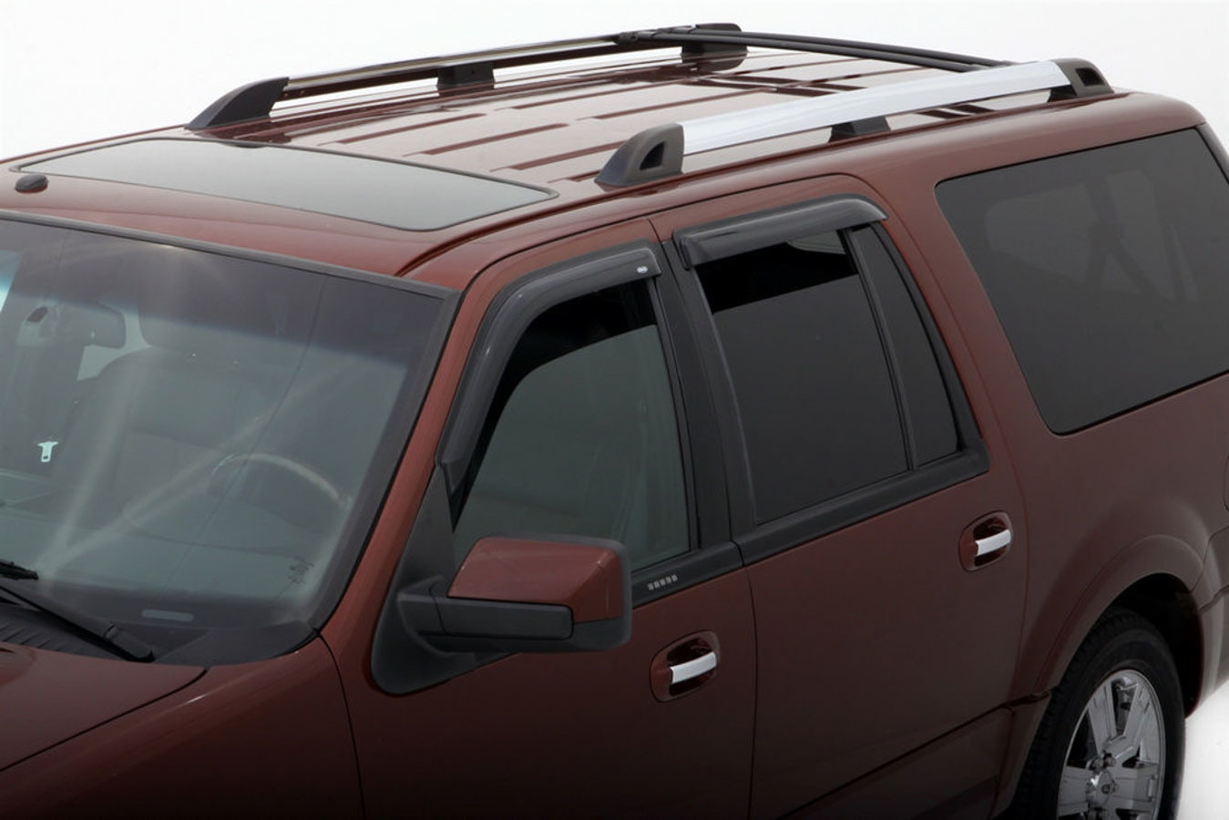 AVS 94233 Tape-On Window Shades Ventvisors 4-Piece Smoke 1997-18 Ford Expedition