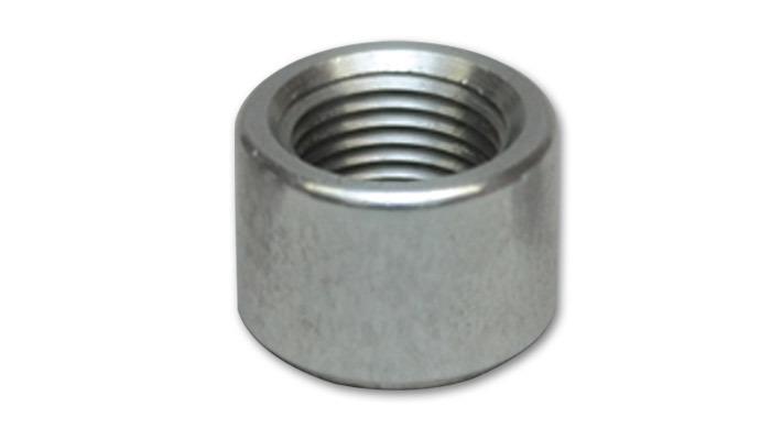 Vibrant 11162 Bung, 8 AN Female, Weld-On, 1 in Diameter, Aluminum, Natural, Each