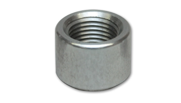 Vibrant Performance 11163 Bung, 10 AN Female, Weld-On, 1-1/8 in OD, Aluminum, Natural, Each
