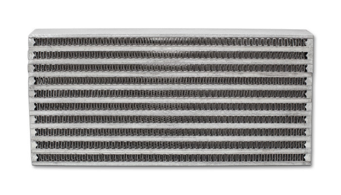 Vibrant Performance 12896 Fluid Cooler Core, 6 x 10 x 2 in, Plate and Fin Type, Aluminum, Natural, Each